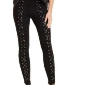Romeo and Juliet Black Lace Up Leggings Pants L.